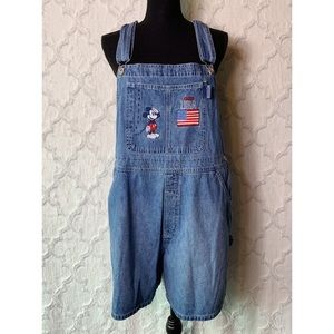 Vintage Disney Mickey Mouse Short Overalls